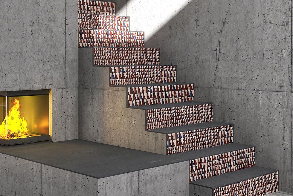 escalier mosaïque